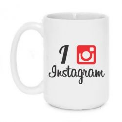 Кружка 420ml I love Instagram - FatLine