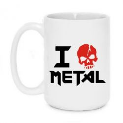 Кружка 420ml I love metal - FatLine