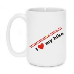 Купить Кружка 420ml I love my bike, FatLine