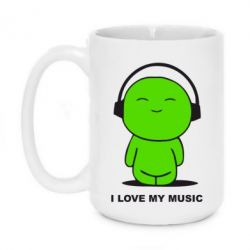 Кружка 420ml I love my music - FatLine