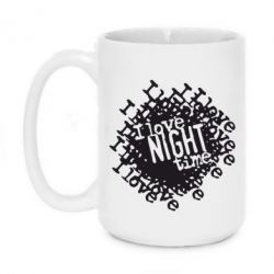 Кружка 420ml I love night time - FatLine