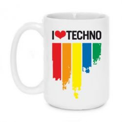 Кружка 420ml I love techno - FatLine
