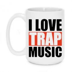 Кружка 420ml I love TRAP Music