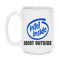 Кружка 420ml Intel inside, idiot outside