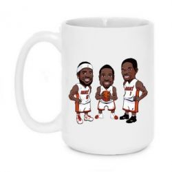 "Кружка 420ml ""James, Wade and Bosh"""