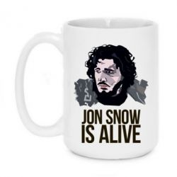 Кружка 420ml Jon Snow is alive - FatLine