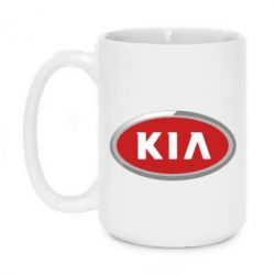 Кружка 420ml KIA Logo 3D - FatLine