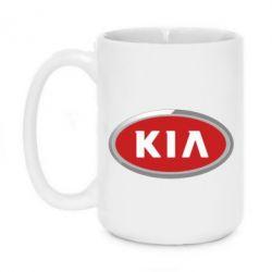 Кружка 420ml KIA Logo 3D - FatLine
