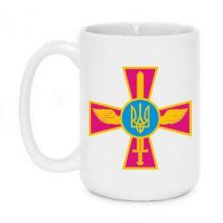 Кружка 420ml Крест з мечем та гербом - FatLine