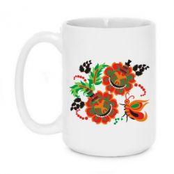 Кружка 420ml Квіти України - FatLine