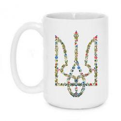 Кружка 420ml Квітучий герб України - FatLine