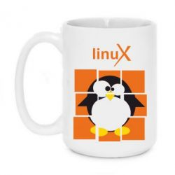 Кружка 420ml Linux pinguine - FatLine
