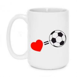 Кружка 420ml Love=Football - FatLine