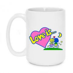 Кружка 420ml Love is... - FatLine
