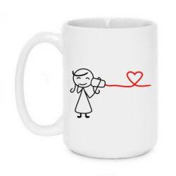 Кружка 420ml Любовное послание 2