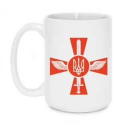 Кружка 420ml Меч, крила та герб - FatLine