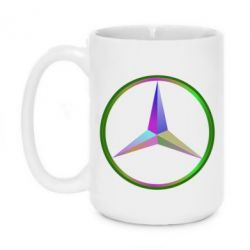 Кружка 420ml Mercedes Logo Art - FatLine