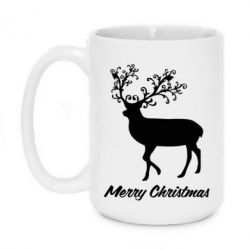 Кружка 420ml Merry Christmas Deer