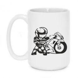 Кружка 420ml Мотоциклист - FatLine