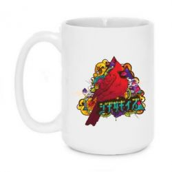 Кружка 420ml Multicolor birds - FatLine