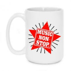 Кружка 420ml Music NON Stop
