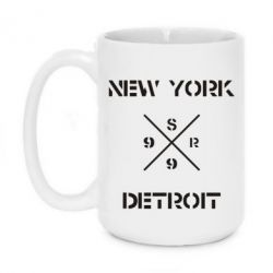 Кружка 420ml New York Detroit - FatLine
