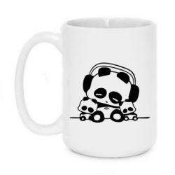 Кружка 420ml Панда в наушниках - FatLine