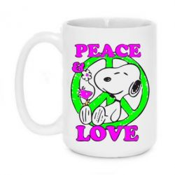 Кружка 420ml Peace and Love