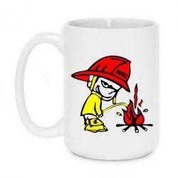 Кружка 420ml Писающий хулиган-пожарный - FatLine