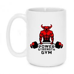 Кружка 420ml Power Strenght Gym - FatLine