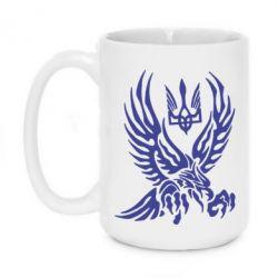 Кружка 420ml Птах та герб - FatLine