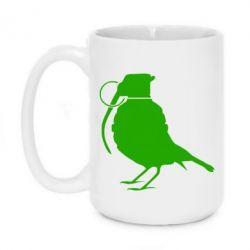Кружка 420ml Птичка с гранатой - FatLine
