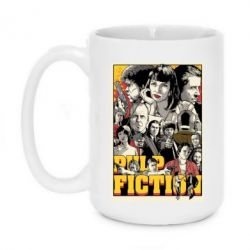 Кружка 420ml Pulp Fiction poster - FatLine