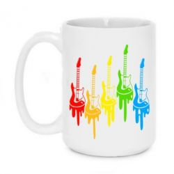 Кружка 420ml Разноцветные гитары - FatLine