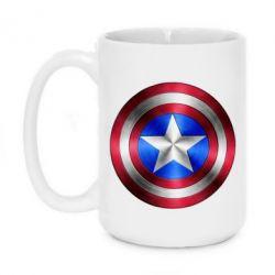 Кружка 420ml Щит Капитана Америка - FatLine