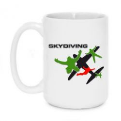 Кружка 420ml Skidiving logo - FatLine