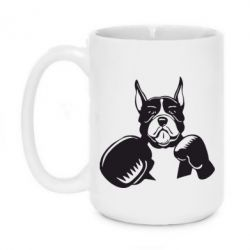 Кружка 420ml Собака в боксерских перчатках - FatLine