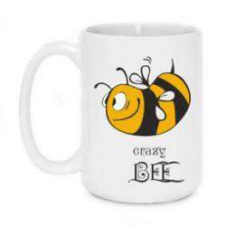 Кружка 420ml Сумасшедшая пчелка - FatLine
