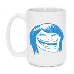 Кружка 420ml Trollface girl