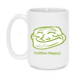 Кружка 420ml Trollface happy