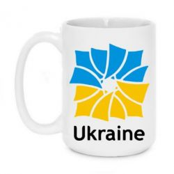 Кружка 420ml Ukraine квадратний прапор - FatLine