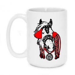Кружка 420ml Українській кінь - FatLine