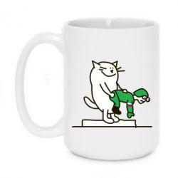 Кружка 420ml Вежливый кот - FatLine