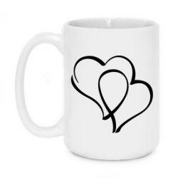 Кружка 420ml Влюбленные сердца - FatLine