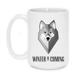 Кружка 420ml Winter is coming Wolf