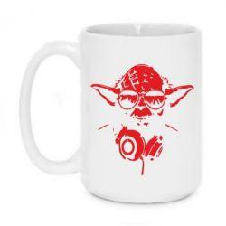 Кружка 420ml Yoda в наушниках - FatLine