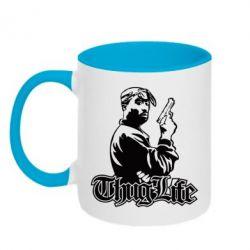 Кружка двухцветная 2pac Thug Life