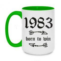 Кружка двоколірна 420ml 1983 Born to win