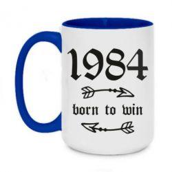 Кружка двоколірна 420ml 1984 Born to win