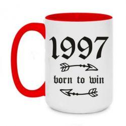 Кружка двоколірна 420ml 1997 Born to win